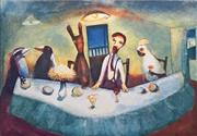 Sale 8838A - Lot 5037 - Garry Shead (1942 - ) - The Supper 66 x 89.5cm