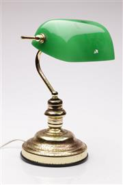 Sale 9052 - Lot 78 - A Bankers Style Table Lamp