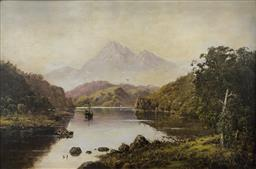 Sale 9123J - Lot 117 - Haughton Forrest (French/Australian 1826-1925) - Ben Nevis, Scotland 1922 (Signed and dated lower left) Height 40cm x Width 60.5cm