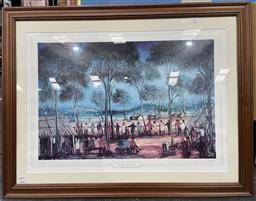 Sale 9135 - Lot 2086 - Pro Hart the Three horse Race, photolithograph, ed. 43/1500, frame: 75 x 97 cm, signed -