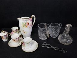 Sale 9254 - Lot 2354 - A small collection of sundries incl. tea wares, cut glass and sugar tongs