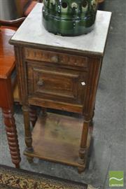 Sale 8338 - Lot 1588 - French 19th Century Bedside Locker with Marble Top