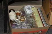 Sale 8346 - Lot 2430 - Box of Sundries & Home Wares incl. Ceramics & Glass