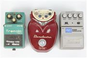 Sale 8419 - Lot 50 - Danelectro Foot Pedal with Ibanez Tremolo & Phase Modulator Pedals (3) (no power supply)