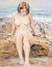 Sale 8558 - Lot 553 - Max Middleton (1922 - 2013) - At the Rockpool 48 x 36.5cm