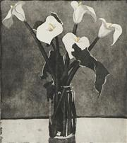 Sale 8722A - Lot 5019 - David Preston (1948 - ) - Lillies, 1985 51.5 x 45cm