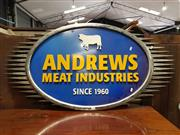 Sale 8741 - Lot 1098 - Andrews Meat Industries since 1964 Shop Front Sign
