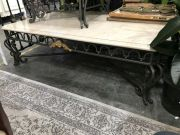 Sale 8942 - Lot 1065 - Large Travertine Top Coffee Table over Metal Base (H: 45, L: 153, W: 123cm)