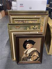 Sale 8981 - Lot 2095 - 7 Tapestries incl The Lacemaker, St Jerome in his Study & The Laughing Cavalier