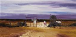 Sale 9109 - Lot 555 - Colin Parker (1941 - ) 10 Miles to the Pub oil on board 30 x 60 cm (frame: 48 x78 x 3 cm) signed lower left