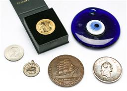 Sale 9144 - Lot 101 - A collection of Medallions and items incl Citroen 1925 and Churchill Crown