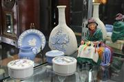 Sale 8086 - Lot 58 - Royal Doulton Figure Silks & Ribbons with Other Ceramics incl Wedgwood Jasper