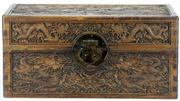 Sale 8162 - Lot 32 - Fruitwood Carved Dragon Box