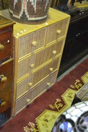 Sale 8165 - Lot 1031 - Wicker Front Chest of 5 Drawers