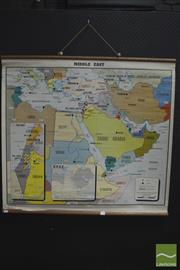 Sale 8275 - Lot 1003 - Jacaranda Press Vintage School Map of the Middle East
