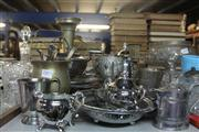 Sale 8330T - Lot 190 - Silver Plated Goblets with Others incl Tea Set