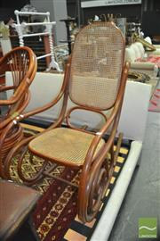 Sale 8337 - Lot 1066 - Kohn Bentwood Rocking Chair