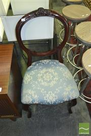 Sale 8338 - Lot 1291 - Balloon Back Chair with Studded Trim