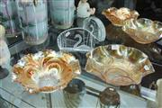 Sale 8346 - Lot 51 - Kosta Boda Swan Paperweight with a Carnival Glass Swan Bowl & Another