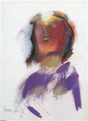 Sale 8410A - Lot 5013 - Anne Hall (1945 - ) - Untitled, 1966 (Figure in Purple) 76.5 x 56cm (sheet size)