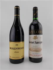 Sale 8454W - Lot 72 - 2x Red Wines - 1x 1998 Brokenwood Wines Shiraz, Hunter Valley; 1x 1999 Taylors Cabernet Sauvignon, Clare Valley