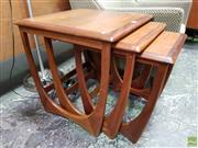 Sale 8566 - Lot 1118 - G-Plan Teak Nest of Tables (51 x 50 x 50)