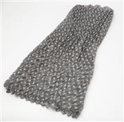 Sale 8550F - Lot 192 - A linen scarf in grey with white spots.