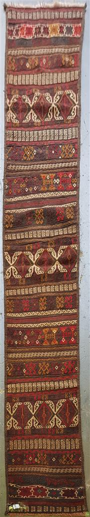 Sale 8593 - Lot 1095 - Persian Kilim Runner (300 x 47cm)