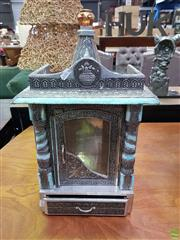 Sale 8611 - Lot 1031 - Asian Shrine with Ornate Pressed Metal Design