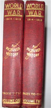Sale 8639 - Lot 51 - World War, a Pictured History in Two Volumes, edited by Sir John Hammerton, published by Amalgamated Press in early 1920s.