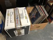 Sale 8797 - Lot 2403 - 2 Boxes of Rock & Pop Records incl Rod Stewart & Bob Seger