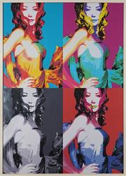 Sale 9053 - Lot 2045 - Chasey - Four Portraits After Andy Warhol 116.5 x 82 cm (frame: 120 x 86 x 4 cm)
