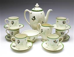 Sale 9098 - Lot 94 - A Royal Doulton Coffee Service for 6 (Minor repair to teapot)