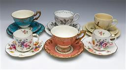 Sale 9098 - Lot 197 - Collection of Cups & Saucers incl. Royal Crown Derby, Royal Doulton & Tuscan Ware
