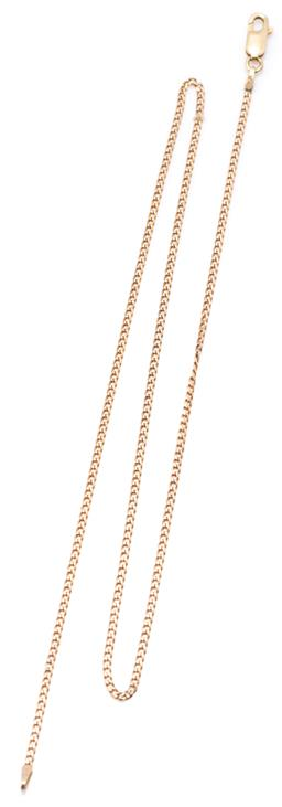 Sale 9164J - Lot 382 - A 9CT GOLD CURB LINK CHAIN; 1.6mm wide chain to parrot clasp, length 45cm, wt. 3.26g.
