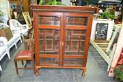 Sale 7987A - Lot 1338 - Display Cabinet on Ball & Claw Feet with Panelled Bevel Glass Doors