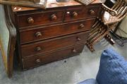 Sale 8046 - Lot 1037 - Late Georgian Mahogany Chest of Drawers (Key In Office) A/F