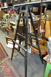 Sale 8129 - Lot 1037 - Black Painted Timber Easel
