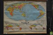 Sale 8275 - Lot 1007 - Chas H Scally Vintage School Map of the World