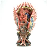 Sale 8314A - Lot 1 - Balinese Carved Timber Garuda Figure