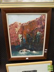 Sale 8471 - Lot 2012 - Vicki Wright (XX) Kimberley Gorge, oil on canvas board, 50 x 40cm, signed lower left -