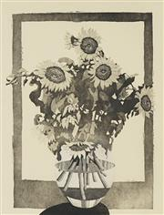 Sale 8722A - Lot 5004 - David Preston (1948 - ) - Sunflowers, 1987 60.5 x 45cm