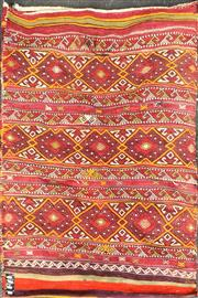 Sale 8740 - Lot 1576 - Middle Eastern Multicoloured Kilim (140 x 107cm)