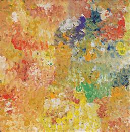 Sale 9244A - Lot 5056 - JANET GOLDER KNGWARREYE (1973 - ) Yam Flower acrylic on canvas 60 x 60 cm (stretched and ready to hang) certificate of authenticity ...