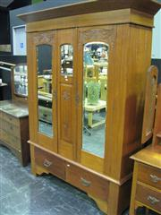Sale 7932A - Lot 1102 - Wardrobe with 2 Mirrored Doors & Central Mirrored Section