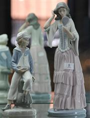 Sale 7950 - Lot 8 - Nao Figure of Lady with Mirror & Lladro Figure of Sailor Boy