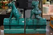 Sale 8099 - Lot 862 - Pair of Ceramic Chinese Statues (1 a/f)