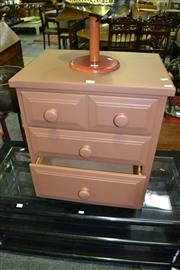 Sale 8124 - Lot 1055 - Painted Timber Bedside w 3 Drawers