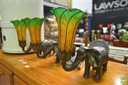 Sale 8262 - Lot 1069 - Set of Three Elephant Form Table Lamps