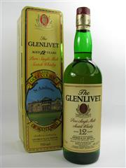 Sale 8278 - Lot 1745 - 1x The Glenlivet Classic Golf Courses of Scotland - St Andrews 12YO Limited Edition Single Malt Scotch Whisky - in canister